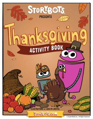 StoryBots Thanksgiving Activity Book